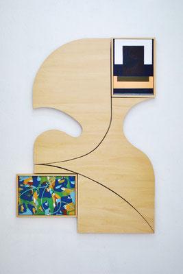 《domain(い・し E - い・し A')》/2015/520×750×30/パネルにアクリル、木、金具