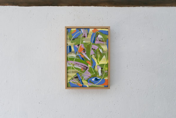 《い・し B'》/2015/210×147/パネルにアクリル