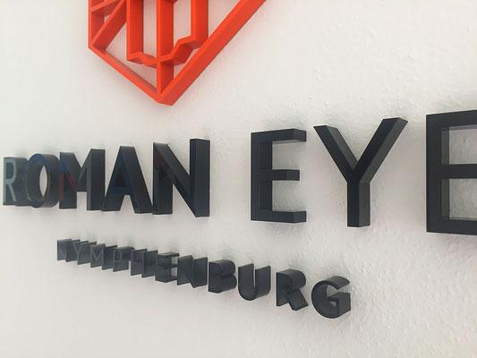 3D-Buchstaben Acrylglas 19 mm.