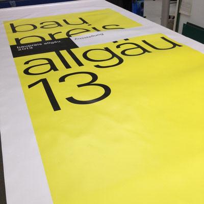 Banner für einen Bauzaun.