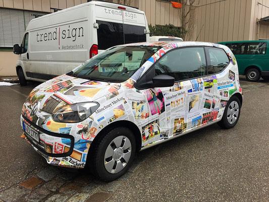Fahrzeug-Folierung (Vollverklebung) mit Digitaldrucken auf Hochleistungsfolie.