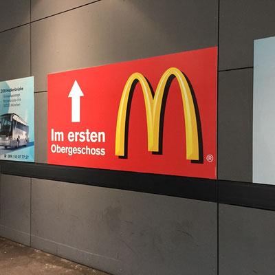 Werbeschild digital bedruckt.