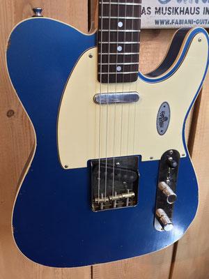 Maybach Telema, Farbe: blau, Custom Shop, Tele- E-Gitarre, Karlsruhe, Pforzheim, Nagold, Horb, Herrenberg, Tübingen
