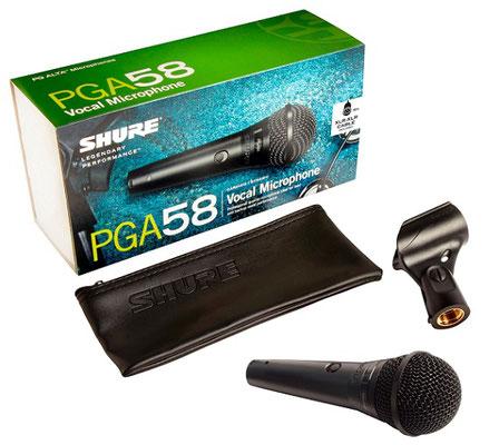 Shure PG 58 Gesangsmikrofon, Fabiani Guitars 75365 Calw