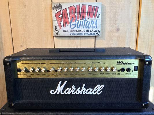 Marshall MG 100 HDFX, E-Gitarren-Topteil, Musikhaus Fabiani Guitars, Pforzheim, Tiefenbronn, Weil der Stadt und 75365 Calw
