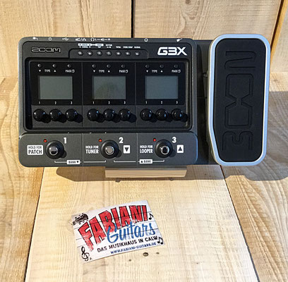 Zoom G3X, E-Gitarren- Multieffektgerät mit Looper Funktion