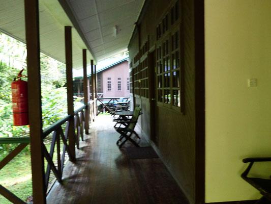 Ein Teil der Terrasse
