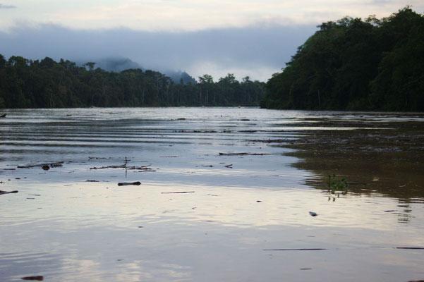 Morgens kurz nach 6.00 Uhr auf dem Fluß