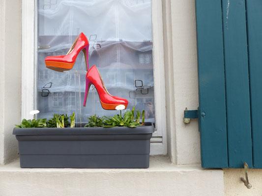Hinweis auf ein Schuhgeschäft