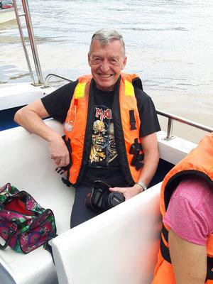 2 Stunden Fahrt über den Kinabatangan River