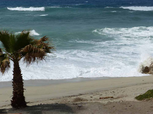 Das Meer ist leicht zornig heute