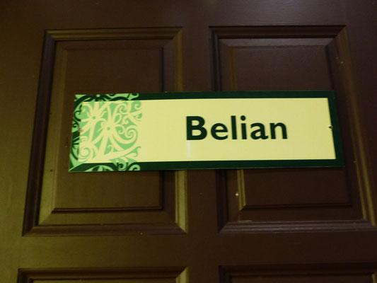 Der Name unseres Zimmers - erinnert mich an eine Kollegin, deren Name auch darin steckt