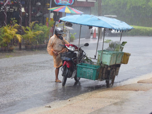 Heute regnet es gewaltig