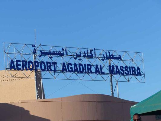 Am Flughafen von Agadir kann man sich die Zeit leider nicht gut vertreiben