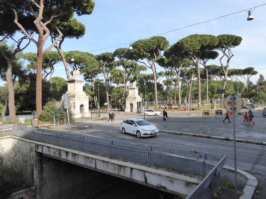 Am Rand der Villa Borghese