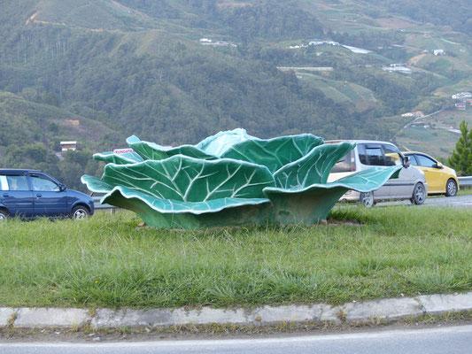 Gemüse-Denkmal in der Stadt