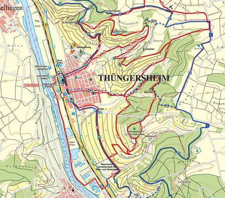 Wanderwege in und um Thüngersheim