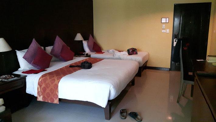 Unser Zimmer, sehr groß und geräumig