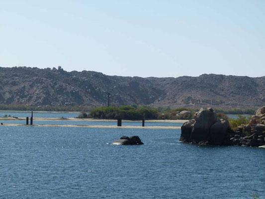 Hier schauen die Reste der ursprünglichen Insel heraus