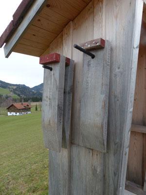 Service vor Ort - Unterlegkeile aus Holz