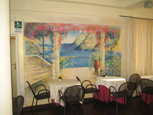 Der Frühstücksraum im Hotel