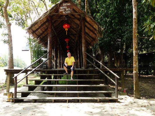 Der Eingang des Dschungel-Resorts