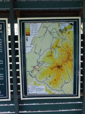 Karte Gunung Mulu Park