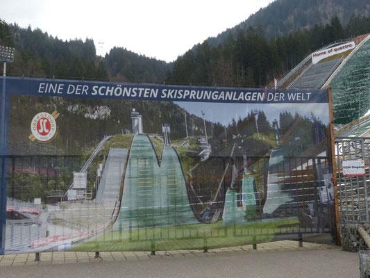 Die Schanzen in Oberstdorf