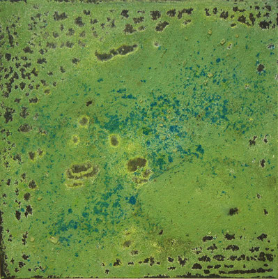498 Lemon I (25 x 25 x 3 cm - Mischtechnik auf Holz)