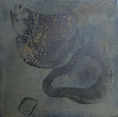 OHNE TITEL H-B-T: 44 x 44 x 3 cm - schwarz gerahmt
