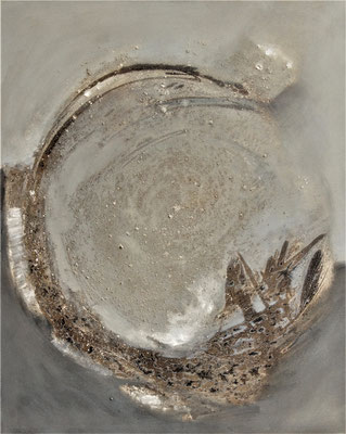 Circle N° 5 (90 x 110 x 3cm) Mischtechnik