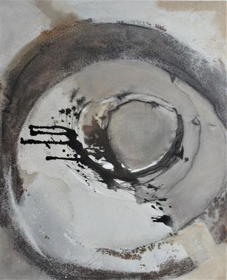 Circle N° 6 (90 x 110 x 3cm) Mischtechnik