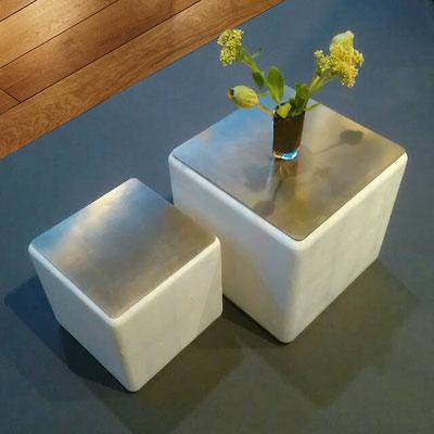 Particulier Bordeaux - Tables basses - 30 x 30 x 30 cm et 40 x 40 x 40 cm