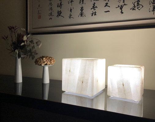 Particulier Shanghai - Paires de lampes de table - 25 x 25 x 25 cm et 30 x 30 x 30 cm