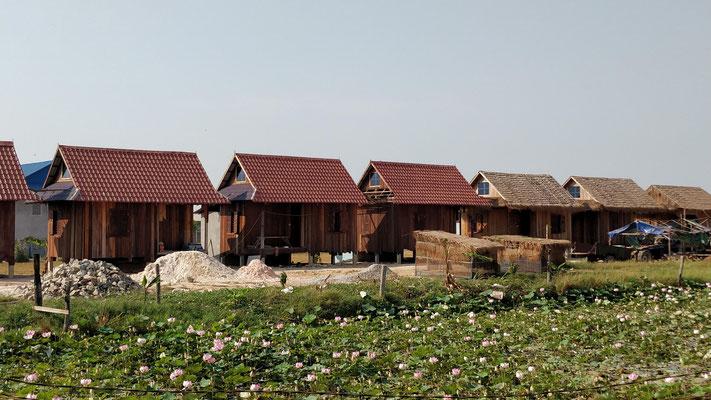Guest House en construction en lien avec les villages associés
