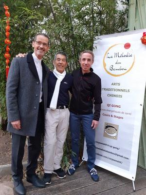 De gauche à droite : Patrick Caël, François Baji, Rémy Regine
