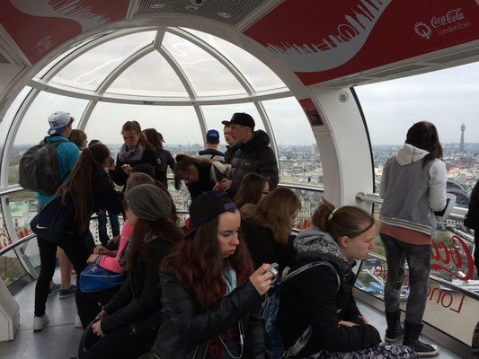 The London Eye - einmal rum in 30 Minuten