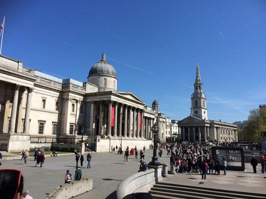 The National Gallery am Trafalgar Square