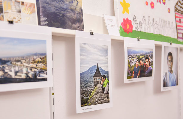 Pressetermin @ STROB Galerie. Foto: (c) Caritas Salzburg/Andreas Schuetz