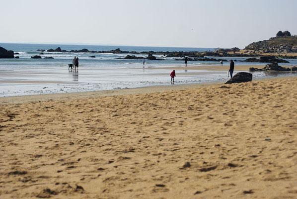 Promenade et baignade à la plade d'Erdeven