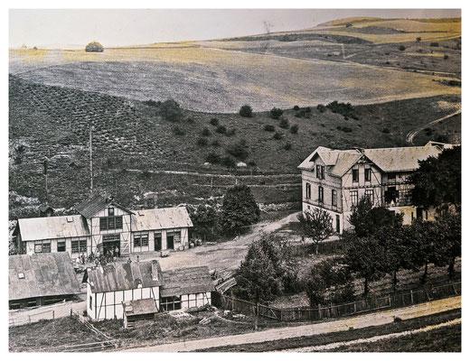 Tagesanlagen der Grube Christiane um 1912 (Quelle: Darstellung im Museum Korbach)