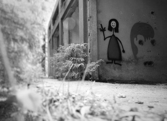 Graffiti-Werke finden sich an vielen Stellen