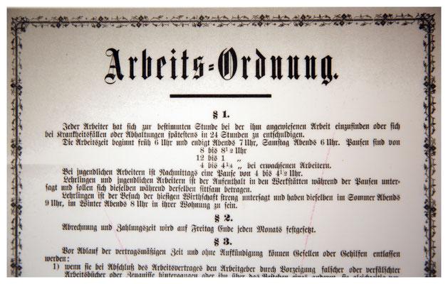 Auszug der Arbeiterordnung von 1891