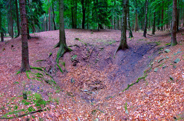 Schachtpinge im Areal des Schachts No. III.