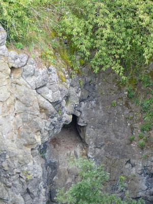 Abbaukammer in der Hauptschlucht