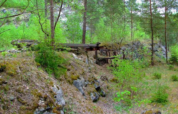 Verladevorrichtung der Feldbahn im großen Kalkbruch (3)