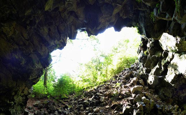Blick aus der Abbaukammer