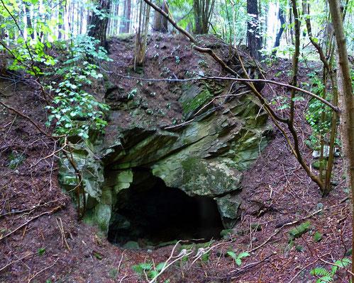 Abbaukammer im westlichen Kalksteinbruch