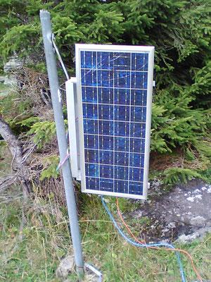 Solaranlage in den Bergen für einen elektrischen Weidezaun- SOLARA Solarstrom die zuverlässige Stromversorgung auch in den Bergen!