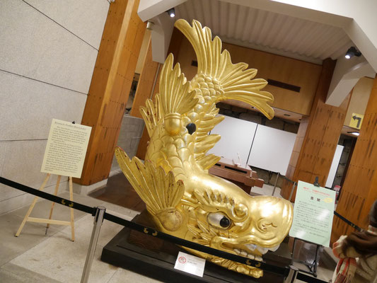 名古屋城のシンボル、金のシャチホコ。